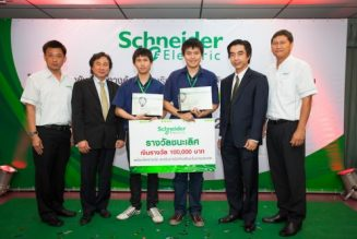 Chiang Mai University won the Schneider Electric Challenge 2011 in six consecutive years for innovation and energy efficiency