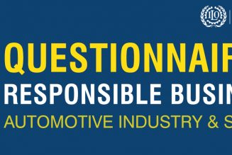 Questionnaire On Responsible Business In Automotive Industry & Suppliers